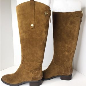 Sam Edelman Penny Suede Leather Tall Tan Boots 6